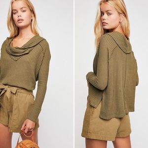 NWT Free People Waffle Thermal Wildcat Top Size XS
